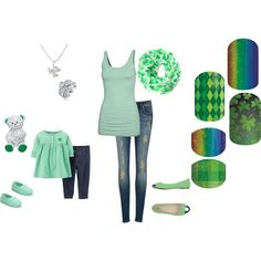 Mommy and Me Saint Patrick's Day Jamberry Nails by kspantonjamon on Polyvore featuring beauty, Gemvara, Bling Jewelry, Fat Face, Ted Baker and Carter's http://ammyers.jamberrynails.net/category/mommy-me