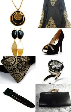 Black & Gold --Pinned with TreasuryPin.com