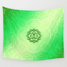 Heart Chakra by Golden Ascension Wall Tapestry Anahata Chakra, Boho, Heart Chakra, Wall Tapestry, New Age, Wall Decor, Spirituality, Etsy, Black