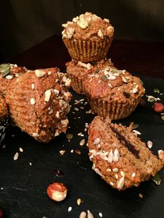 Nutty Protein Muffins with Protella filling