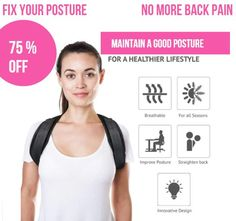 The Best Posture Corrector For Men and Women! The Top Posture A Back Brace For Posture and Mind. Our Zeowo Back Posture Corrector heals your back problems and your depression. Our Zeowo Posture Corrector is made of custom cushioning. Shoulder Posture Brace, Back Brace For Posture, Fix Bad Posture, Better Posture, Good Posture, Improve Posture, Shoulder Posture Corrector, Posture Corrector For Men, Back Muscle Groups