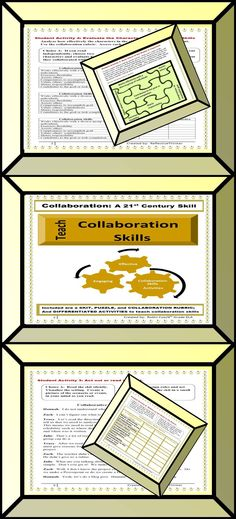 Do you teach collaboration skills to help students understand your expectations during cooperative learning assignments? Activities included a skit, a jigsaw puzzle, an evaluation of a collaboration scenario using a rubric, and a reflection activity.  Activities provide opportunity for student choice. This packet includes 6 primary assignments to include 11 differentiated learning activities or choices. Addresses different learning styles. PREVIEW.