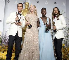 Matthew McConaughey, Cate Blanchett, Lupita Nyong'o, Jared Leto #oscars2014
