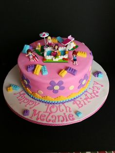 Lego Friends birthday cake