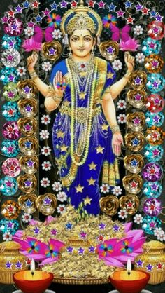 Lakshmi has also been a goddess of abundance and fortune for Buddhists Lakshmi hindu art Lakshmi wealth Lakshmi goddesses Lakshmi haram Lakshmi tanjore painting Lakshmi vaddanam Lakshmi bangle Lakshmi decoration Lakshmi necklace Indian Goddess, Goddess Lakshmi, Hindu Deities, Hinduism, Divine Mother, Mother Goddess, Shiva Hindu, Durga Maa, Hindu Art