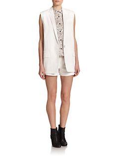 Rag & Bone - Stretch-Cotton Francois Vest