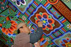 Dancheong   Tattoo idea   Flowers   Geometric