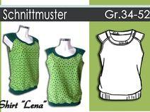 """Schnittmuster & Anleitung Shirt """"Lena"""" Gr:34-52"""
