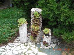 DIY - Betonsäule mit Luftpolsterfolie zum Bepflanzen - Pflanzturm aus Beton - YouTube