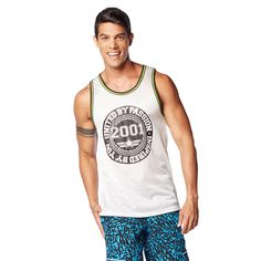 When it comes to #Zumba you're all in and ballin! Show off your #Zumbalove (and sexy arms!) in the all-new mesh MEN'S ZUMBA BALLER JERSEY #zumbawear #zumbaclothing.