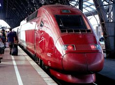 Thalys train from Amsterdam to Paris