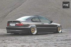 BMW E46 3 series grey deep dish slammed