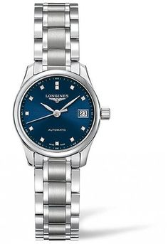 @longineswatches Master Collection Ladies #add-content #bezel-fixed #bracelet-strap-steel #brand-longines #case-material-steel #case-width-26mm #date-yes #delivery-timescale-1-2-weeks #dial-colour-blue #gender-ladies #l21284976 #luxury #movement-automatic #new-product-yes #official-stockist-for-longines-watches #packaging-longines-watch-packaging #style-dress #subcat-master-collection #supplier-model-no-l2-128-4-97-6 #warranty-longines-official-2-year-guarantee #water-resistant-30m