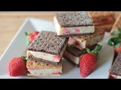 Healthy Ice Cream Sandwich Recipe (Strawberry Banana) All Natural! | Divas Can Cook
