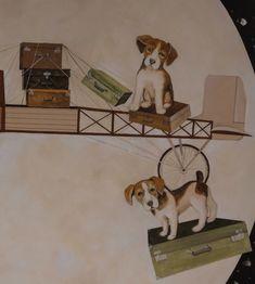 Detaliu (5) pictură perete Ceilings, Floors, Walls, Dogs, Animals, Ceiling, Wall, Home Tiles, Flats