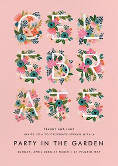 Monogrammed celebrates by Rifle Paper Co. (via Paperless Post).