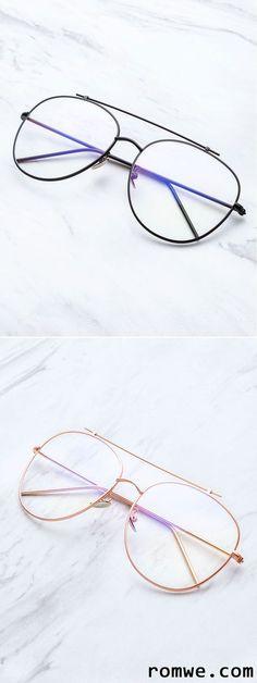 697f3f7ed02bf Gold Frame Clear Lens Double Bridge Glasses New Glasses