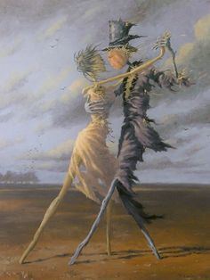 """love02bthings: """" Dancing Scarecrows - Francis Uwins French, """""""