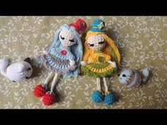 Muñeca llavero Andrea mini amigurumi crochet - Parte 1 (Crochet paso a paso by Enoki) Crochet Fox, Crochet Cross, Crochet Doll Pattern, Crochet Patterns Amigurumi, Free Crochet, Mini Amigurumi, Amigurumi Animals, Amigurumi Doll, Knitted Dolls