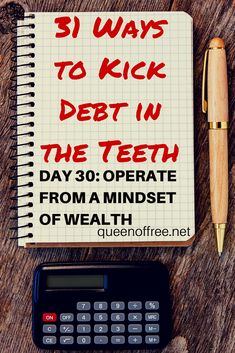 Sign up for daily simple tips to get your finances under control from someone who paid off $127K. Today, kick debt in the teeth by looking at what you have with new eyes.