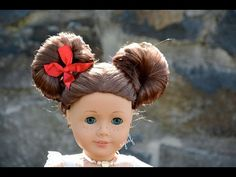 American Girl Doll Disney Hairstyle Minnie Mouse Buns ~Inspired by Cutegirlshairstyles~ HD - YouTube