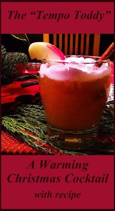 A Christmas Cocktail with Hot Cider, Bourbon, Grand Marnier, Cinnamon and Whipped Cream - Such Yumminess!