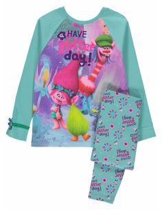 New Girls Pyjamas Trolls Pjs Movie Poppy Kids Lavender 4 to 10 Years