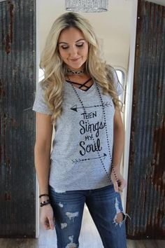 We are so excited about our custom designed tees! Then Sings My Soul was a design I hand drew after listening to praise and worship music one day. How great is the Father's love for us?! It is so hard