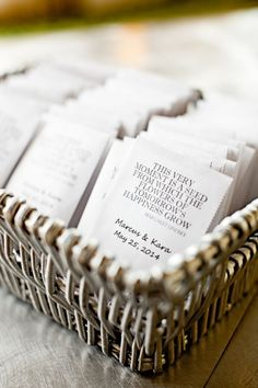 Seed wedding favors
