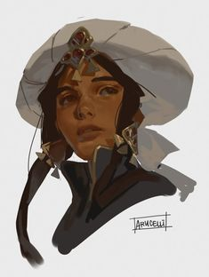"""""""trying to find her face because my painting style morphs every time! Trying to go for that oil painting style that I dream of having one day 🥰"""" Digital Portrait, Portrait Art, Portraits, Character Illustration, Illustration Art, Digital Painting Tutorials, Art Reference Poses, Character Design Inspiration, Pretty Art"""