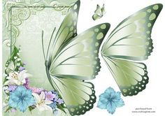 OFF THE EDGE BUTTERFLY CARD on Craftsuprint designed by Angela Ludwig - Please enjoy my latest Off the Edge Card Front, featuring a beautiful butterfly. - Now available for download!