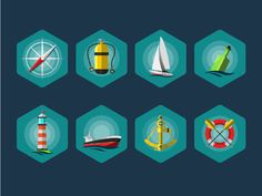 This is a small icon pack designed byVadim Ponomaryov. The pack includes 8 high quality free sea vector icons in EPS file format. You can use these icons in yourmarine projects, be it a logo or a water graphic design. The icons are free to use in your personal and commercial projects.