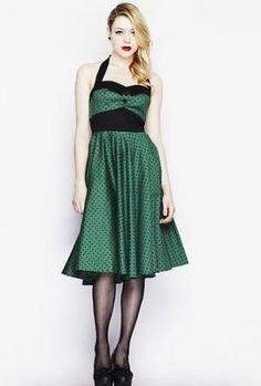 Hellbunny Adelaide Grünes Kleid