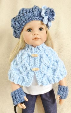 Free hat pattern on ravelry http://www.ravelry.com/patterns/library/lace-newsboy-cap-for-american-girl-gotz-dolls