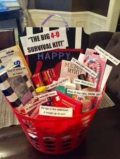Creative 40th Birthday Gift Ideas Awesome Survival Kit For A Woman Most Things From Dollar Tree