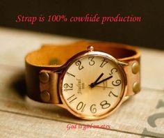 Big dial digital leisure watchPure leather strap by Godisgirl, $13.99