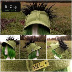 B-Cap grün/Plüsch über Größe XXL, unisex, Mit einer extravaganten Mütze strahlst du sogar bei Kälte eine Eleganz aus.