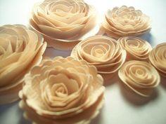 Antique White Wedding Textured Handmade Spiral by crazy2becrazy
