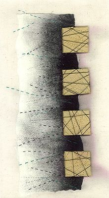 Linear Grid 1 - quilt by Bobby Britnell 2001 #lines #geometric