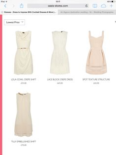 Oasis dresses for bridesmaids