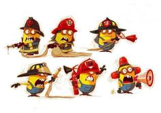 Firefighter Minions Yup I am pretty sure I have responded with all of these guys through the years