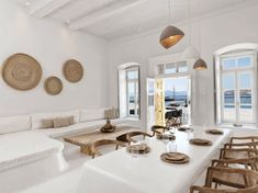 Airbnb owners from Mykonos to Massachusetts offer beach rentals that will make you feel at home while enjoying the sea just steps away. Beautiful Villas, Beautiful Homes, Mykonos Town, Mykonos Greece, Crete Greece, Athens Greece, Santorini, Mykonos Villas, Kitchens And Bedrooms