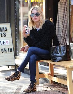Just moved to New York: Ashley Benson got her caffeine fix with an iced-coffee at Joe & The Juice in Manhattan on Friday morning