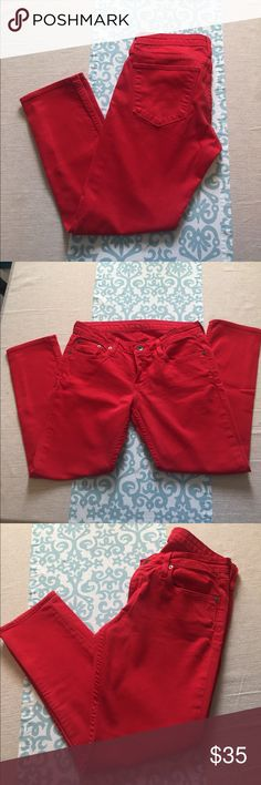 Big star RED skinny jeans These are gorgeous!!! Red skinny jeans from big star. Inseam is approx 25.5. Big Star Jeans Skinny