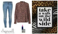 Take a walk on the wild side! Spice up your shirt selection with this leopard print, super soft and flowing silk Lilly Shirt from Second Female. Team with Penelope trouble knee cut from Five Units which is a skinny fit jeans with a flattering silhouette.