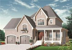 These House Plans are kinda weird. I don't like the tall roof.