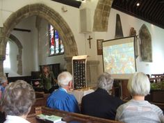 Sophie Neville speaking on the Bible Society's visit to China at St John's Church, Boldre in the New Forest, Hampshire, UK