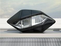 """capsule 1  The """"Living Capsule"""" concept by NAU is 28 feet long and is meant to house everything you might expect from a luxury hotel room."""