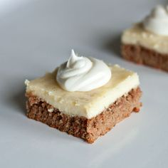 Carrot Cake Cheesecake Bars. This would be great for Easter!