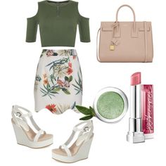 untitled #1 by ilmadhinautari on Polyvore featuring polyvore fashion style WearAll Lola Cruz Yves Saint Laurent Maybelline Lise Watier